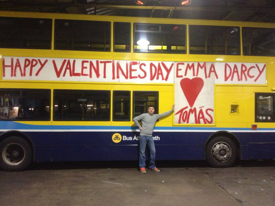 Tomás Kavanagh and his Valentine's Day message