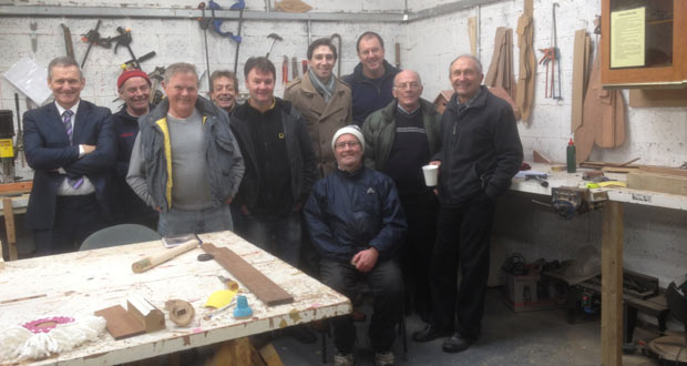Deputy Harris visited Arklow Men's Shed recently