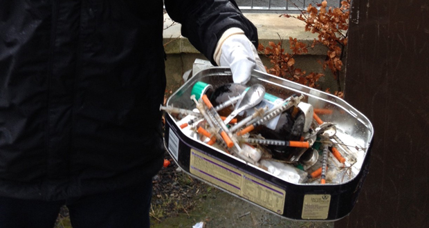 Over 30 syringes were discovered in a council house in Bray.