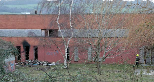 Two untis of Bray Fire Service were called to the Boghall Road blaze