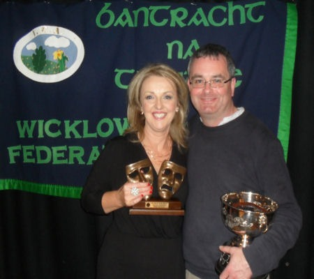 The Village Players won the Premier Award for Best Group and Marion Murphy was Best Actress at the recent Wicklow ICA Drama Festival in Glenealy.