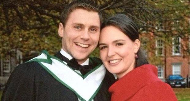 Deirdre Kelleher and her fiancé Alan Moriarty.
