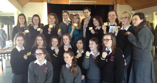 Deputy Simon Harris met the students of Loreto Bray yesterday.