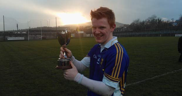 Conor Lambert, the captain of Colaiste Bhride, Carnew