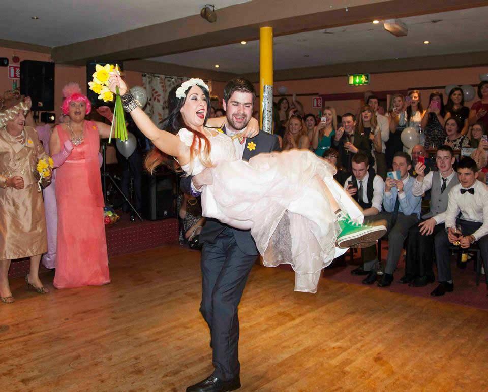 Bridesmaid and Groomsman Danielle Byrne and Patrick MacDonald