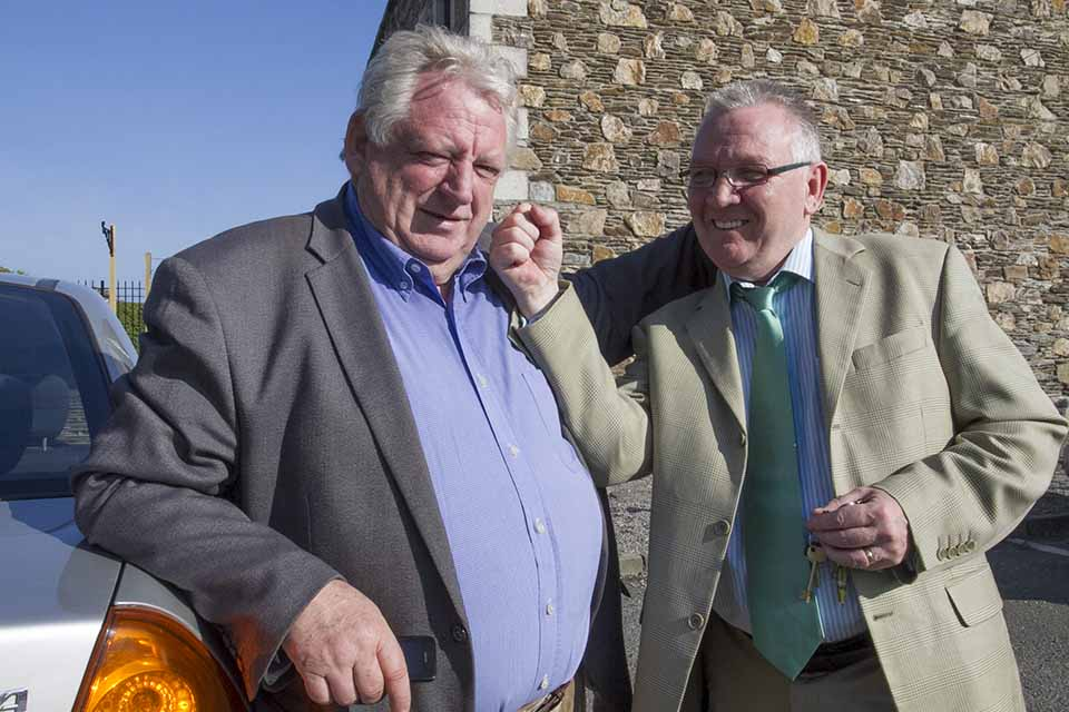 Eugene Dooley gets in some practice on another Wicklow councillor