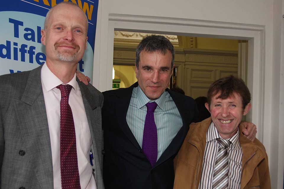 """Running men"" Conor Swords,Daniel Day Lewis and Bill Porter"