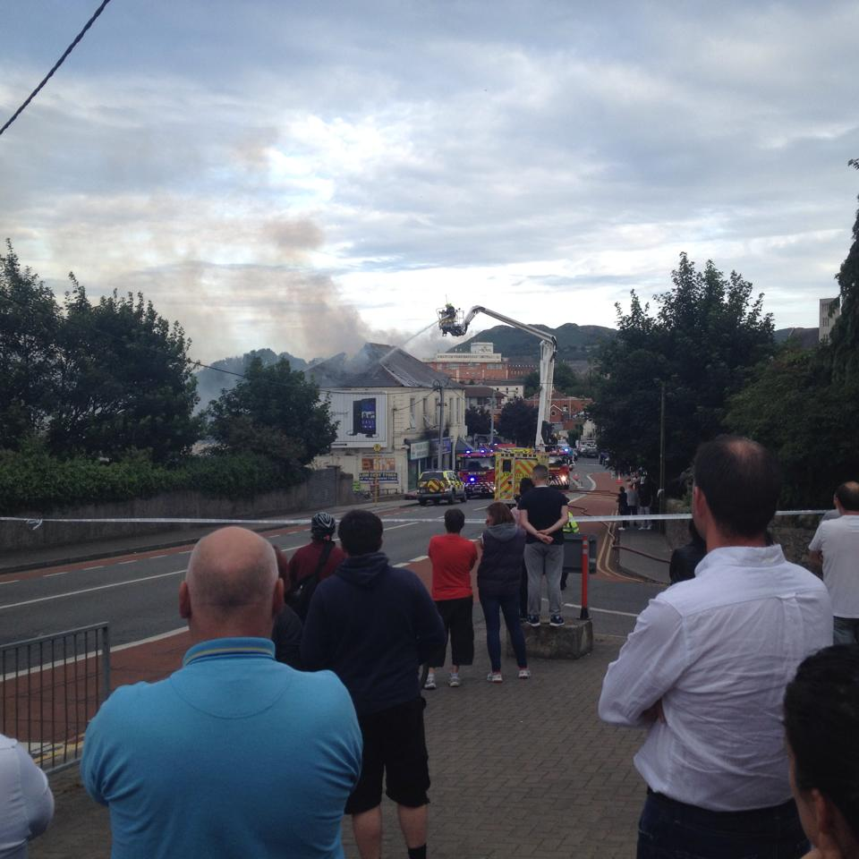 The fire on Castle street in Bray(Pic.Fiona Murray)