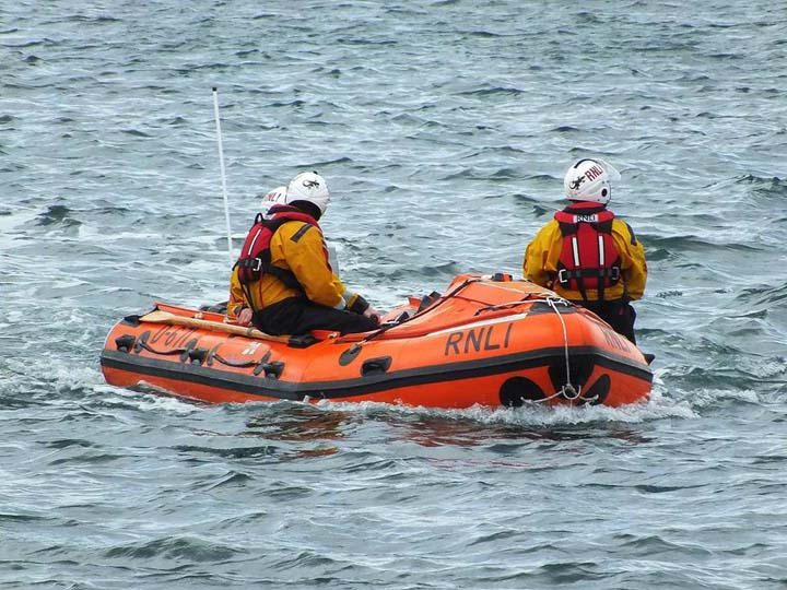 Wicklow RNLI on duty at a Wicklow swimming club race