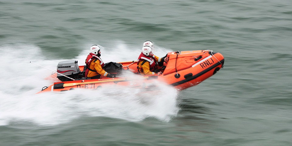 Wicklow RNLI Inshore lifeboat