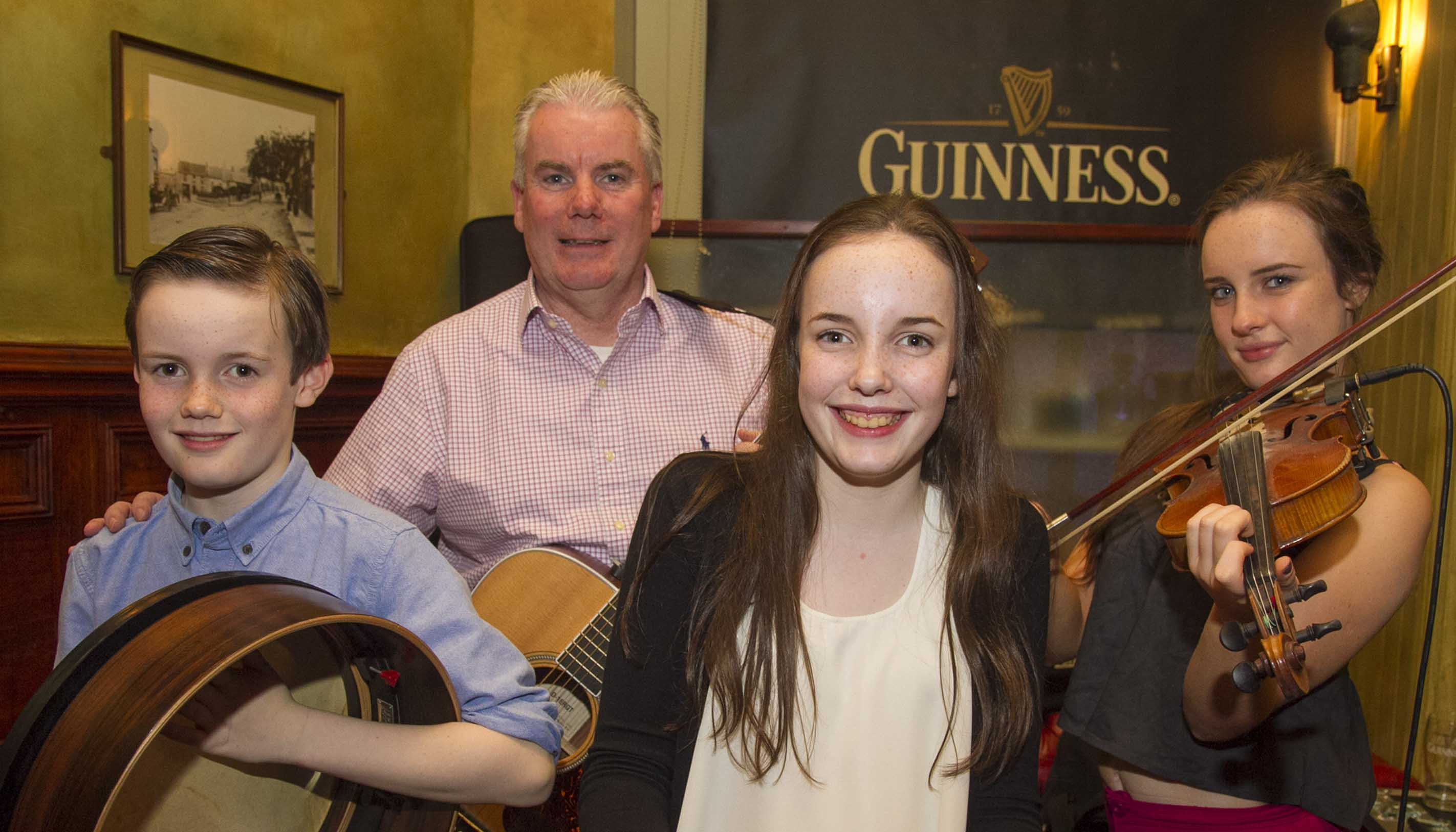 The Maguire Family who performed at the Wicklow RNLI Christmas raffle in Phil Healy's, Wicklow Town (Pic.Michael Kelly)