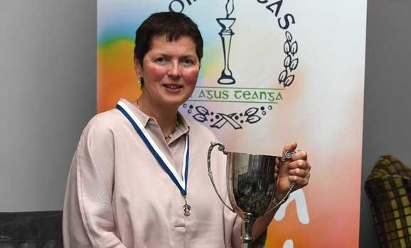 Eibhlís Ní Ríordáin, from Greystones, won the first prize in the Corn Mháire Nic Dhonnchadha Sean-Nós singing competition at the recent Oireachtas Festival in Kilarney, Co.Kerry, 2-6th November.