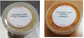 Avoca red pepper and onion hummus