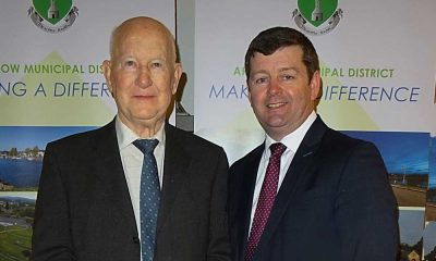 Jimmy Olohan with Arklow Municipal chairman Pat Kennedy (Pic.Sean Olohan)
