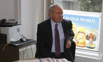 Martin McGuinness during his interview at the Wicklow Times office in Bray (Pic.Michael Kelly)
