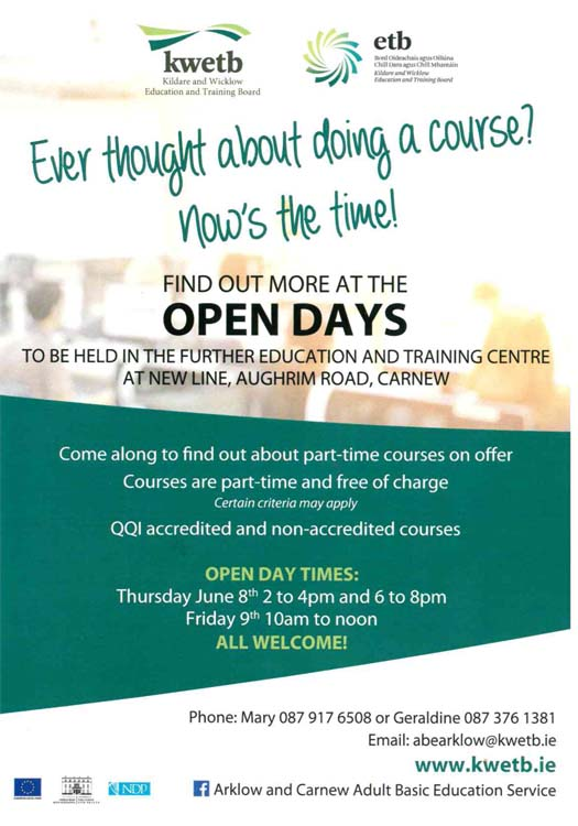 open day flyer carnew