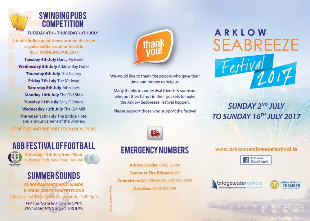 2017 Arklow Seabreeze Festival brochure Outside