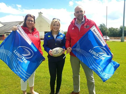 Present at the launch of the event were Mamie Louth, Arklow Rugby Club President; Lisa Doyle, Domestic Marketing Executive, Leinster Rugby and Paul Neill, Pitch Re-development Project Manager, Arklow Rugby Club.