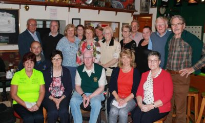 Arklow Lions Club members with representatives from nine local charities at the annual donation night in Old Ship.
