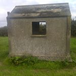 This is the sentry hut located inside the boundary of Sea bank farm Private Richard Craig was on duty in this area on the night of the explosion in September 21st 1917 this is only yards from the site of that explosion