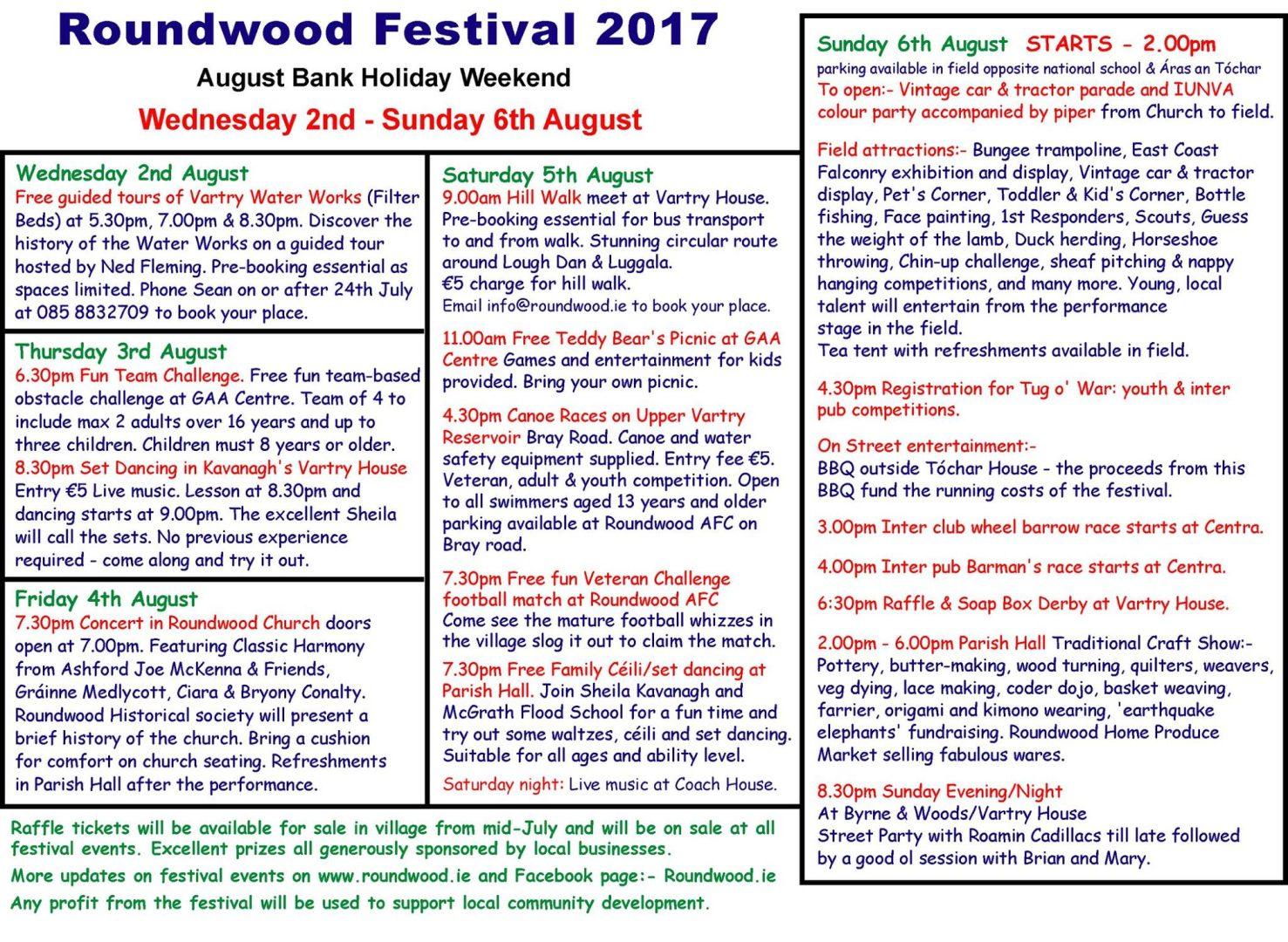 Roundwood Festival
