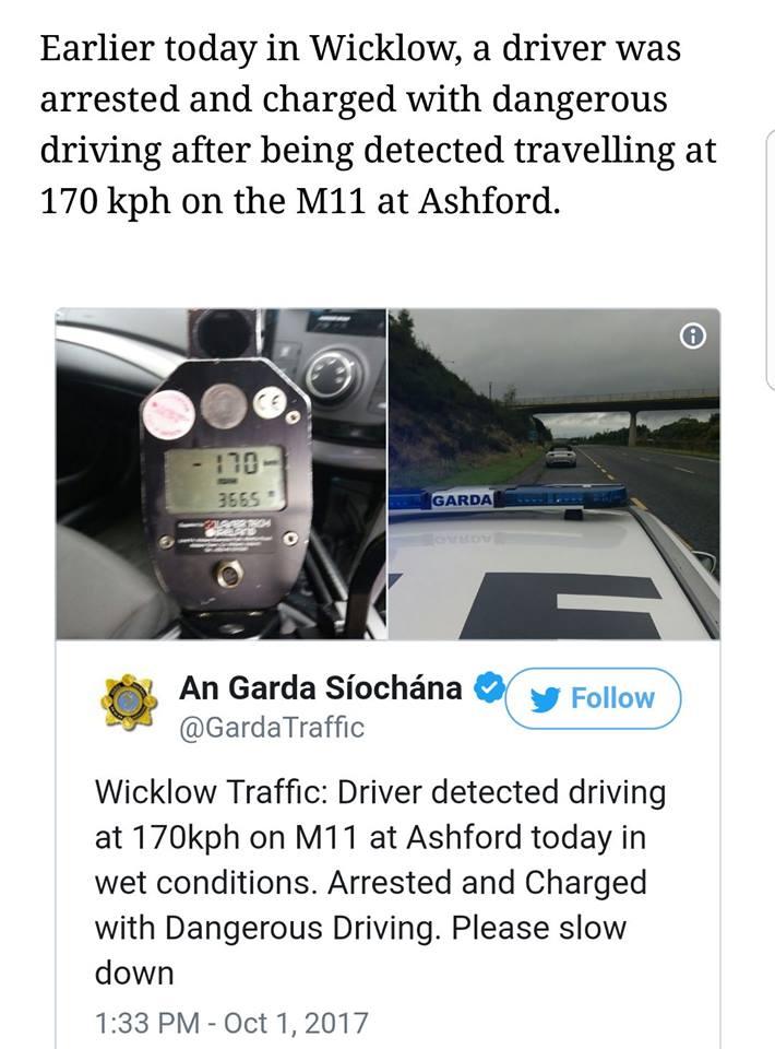 Garda speed